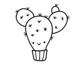Desenho de Cacto opuntia para colorear