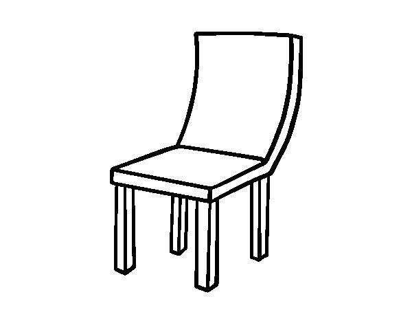 Desenho de cadeira curva para colorir for Sala de estar png