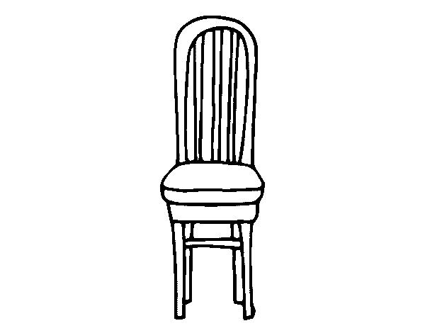 Desenho de cadeira de madeira para colorir for Sillas para dibujar facil