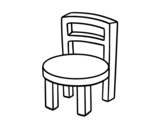 Desenho de Cadeira redonda para colorear
