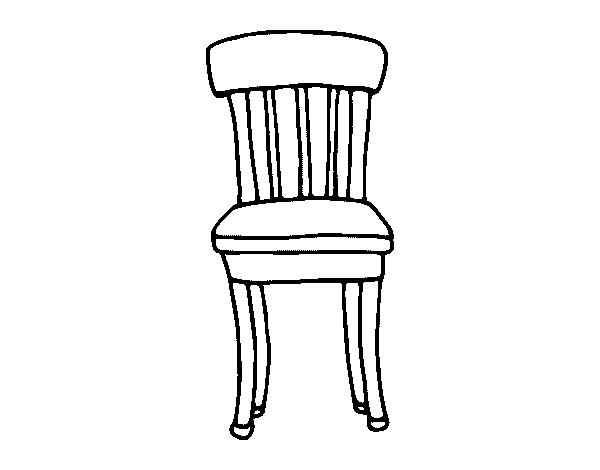 Desenho de cadeira r stica para colorir for Sala de estar png