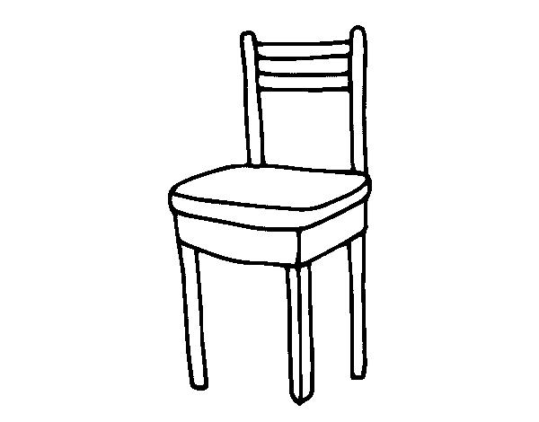 Desenho de cadeira para colorir for Sala de estar png