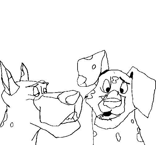 Desenho de Cães para Colorir