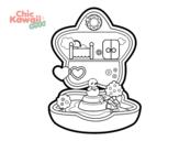 Desenho de Caixa de música Kawaii para colorear