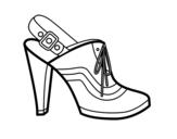Desenho de Calcanhar com calcanhar fechado para colorear