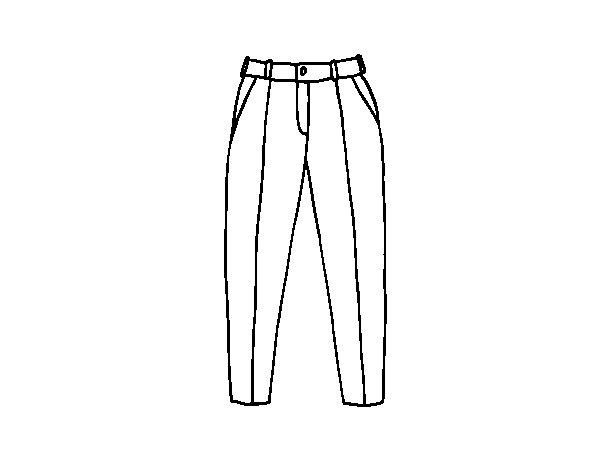 Desenho de Calças plissadas para Colorir