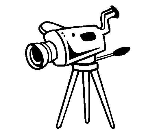 Desenho de Câmera de cinema para Colorir