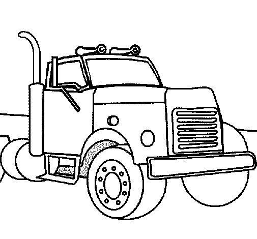 Desenho de Camião 2 para Colorir