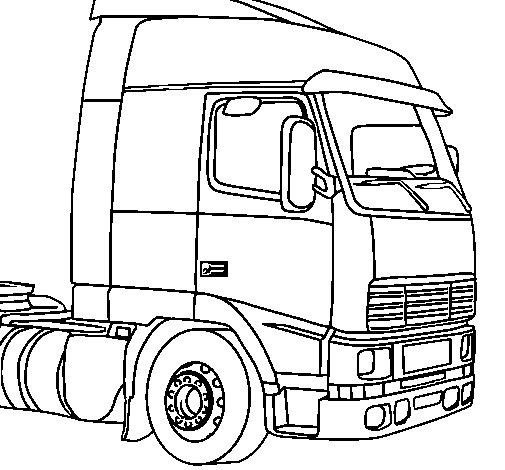 Desenho de Camião 5 para Colorir