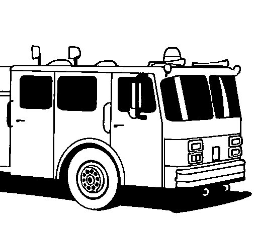 Desenho de Camião de bombeiros para Colorir