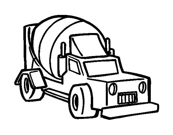 Desenho de Caminhão batoneira para Colorir