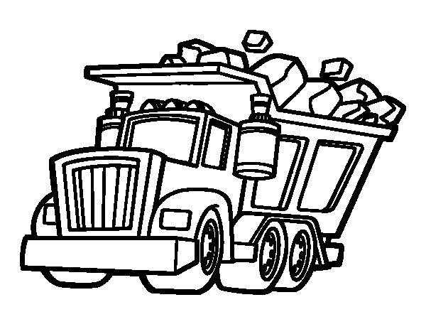Desenho de Caminhão carregado para Colorir