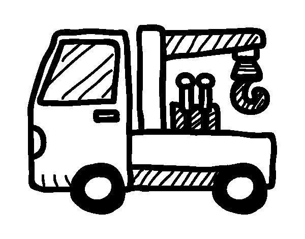Desenho de Caminhão de reboque para Colorir