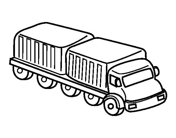 Desenho de Caminhão largura para Colorir