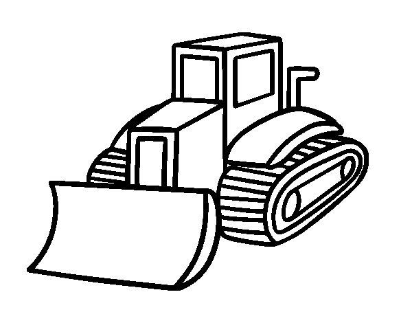 Desenho De Caminhão Pá Para Colorir