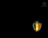 Desenho de Camisa da copa do mundo de futebol 2014 da Bélgica para colorear