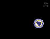 Desenho de Camisa da copa do mundo de futebol 2014 da Bósnia e Herzegovina para colorear
