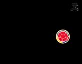 Desenho de Camisa da copa do mundo de futebol 2014 da Colômbia para colorear
