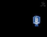 Desenho de Camisa da copa do mundo de futebol 2014 da Coréia do Sul para colorear
