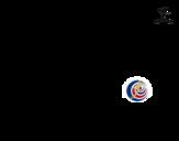Desenho de Camisa da copa do mundo de futebol 2014 da Costa Rica para colorear