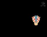 Desenho de Camisa da copa do mundo de futebol 2014 da Croácia para colorear