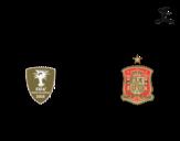 Desenho de Camisa da copa do mundo de futebol 2014 da Espanha para colorear