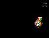 Desenho de Camisa da copa do mundo de futebol 2014 da Gana para colorear