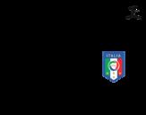 Desenho de Camisa da copa do mundo de futebol 2014 da Itália para colorear