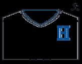 Desenho de Camisa da copa do mundo de futebol 2014 de Honduras para colorear