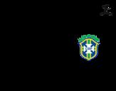Dibujo de Camisa da copa do mundo de futebol 2014 do Brasil