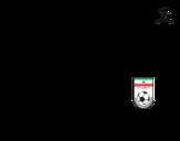 Desenho de Camisa da copa do mundo de futebol 2014 do Irão para colorear