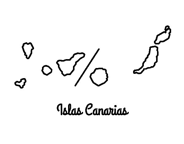 Desenho de Canárias para Colorir