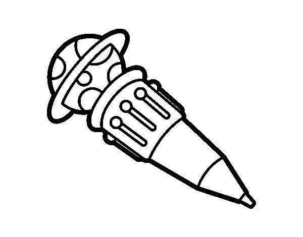 Desenho de Caneta esferográfica multicolor para Colorir