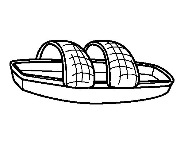 Desenho de Canoa para Colorir