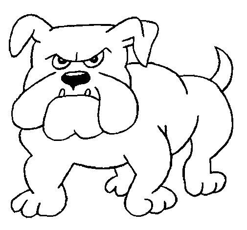Desenho de Cão Bulldog para Colorir