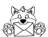 Desenho de Cão com letra para colorear