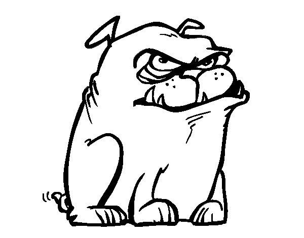 Desenho de Cão com raiva para Colorir