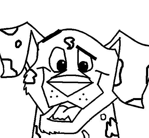 Desenho de Cão da Dalmácia para Colorir
