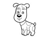 Desenho de Cão doméstico para colorear