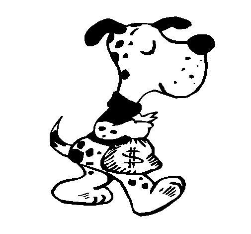Desenho de Cão ladrão para Colorir
