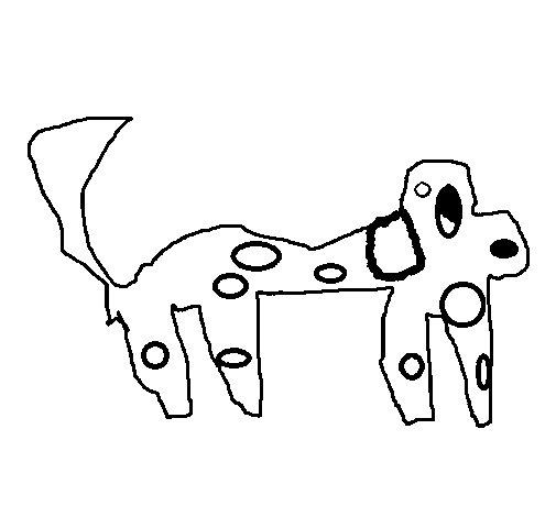 Desenho de Cão manchado para Colorir
