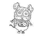 Desenho de Cão Minion para colorear