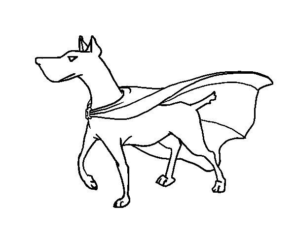 Desenho De Cão Super-herói Para Colorir