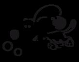 Desenho de Cãozito a correr  para colorear