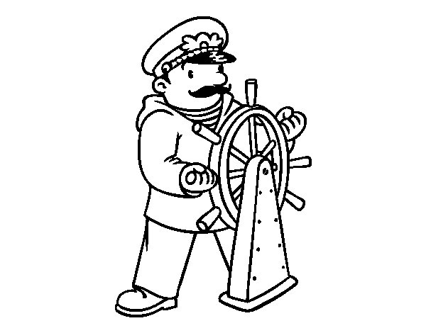 Desenho De Capitão Para Colorir