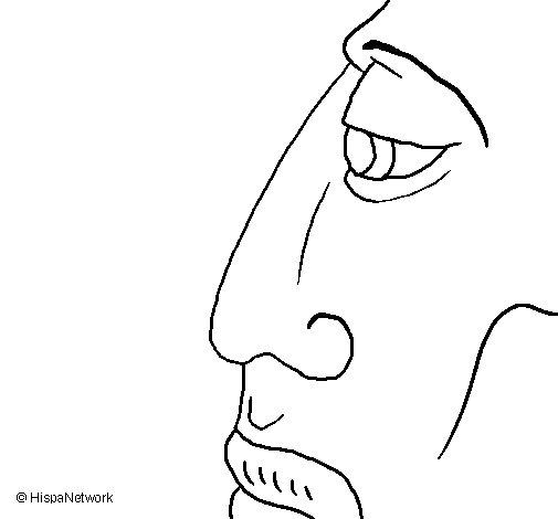 Desenho de Cara para Colorir