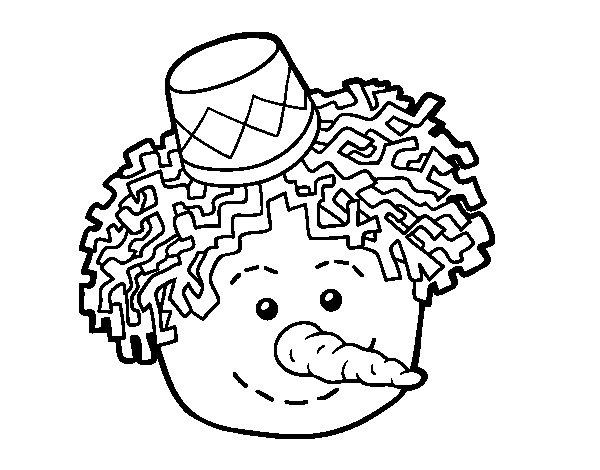 Desenho de Cara de Boneco de neve para Colorir