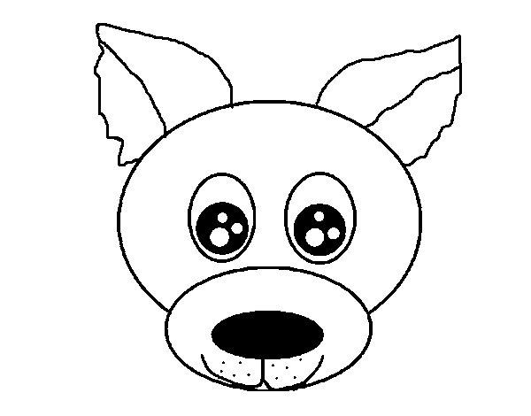 Desenho De Cara De Cachorro Para Colorir
