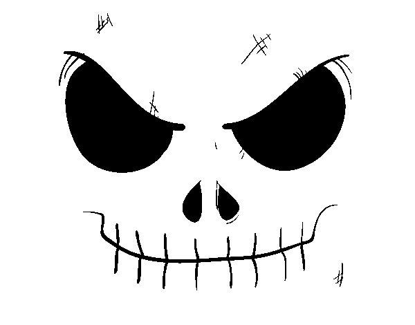 Desenho de Cara de caveira para Colorir