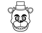 Desenho de Cara de Freddy de Five Nights at Freddy's para colorear